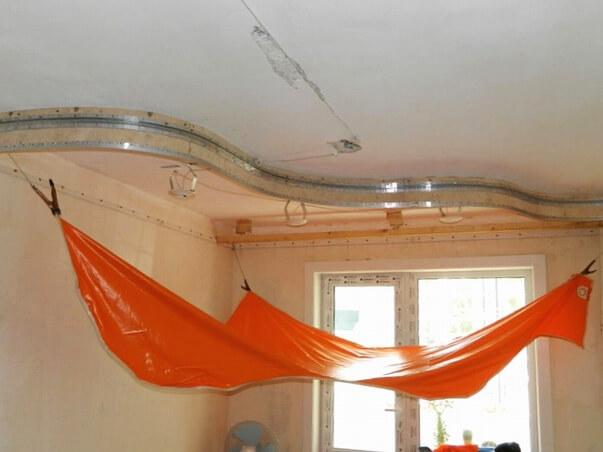 Как сделать двухуровневый потолок самому фото