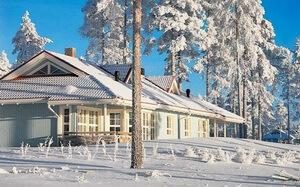 потолок натяжной в зимнем доме зимой фото
